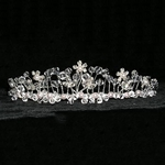 Garden Row Twisted Wire Crystal and Pearl Tiara