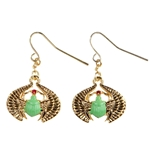 Egyptian Scarab Earrings