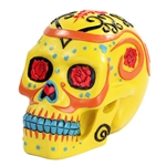 Yellow Day of the Dead Sugar Skull