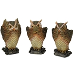 Owl Hear Speak See No Evil Set
