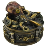 Round Steampunk Octopus Box