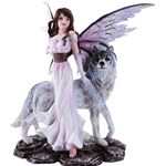 Fairy and Wolf Figurine