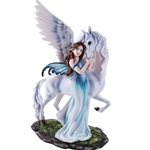 Fairy and Pegasus Figurine
