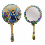 Celtic Violet Hand Mirror