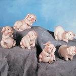 Little Pigs Statue Set of Four