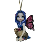 Ferret With Butterfly Wings Fairy Strangeling Ornament