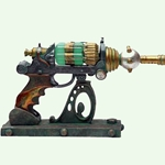 The Steampunk ECCID Blaster with Stand