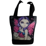 Fairy with Winged Ferret Handbag Designer Tote