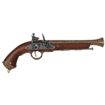 18th Century Italian Brass Flintlock Pistol - Non-