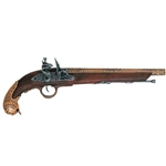 German Flintlock Pistol ca 1700s Brass Non Firing 1043L