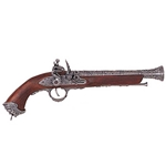 18th Century Italian Pewter Flintlock Pistol - Non
