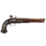 Versailles Flintlock Dueling Pistol - Nickel Finish