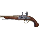 Left-Handed Brass English Flintlock - Non-Firing FD1129L