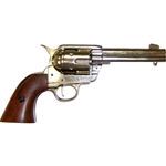 Colt 45 Peacemaker M1873 Nickel Finish Revolver Non Firing FD1186NQ