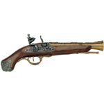 British Flintlock Blunderbuss Pistol Brass