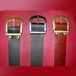 Heavy Leather Buckled Belt 20-R-057