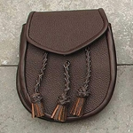 Brown Sporran with Braided Tassels 200312