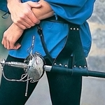 Split-Strap Leather Rapier Belt and Carrier