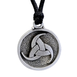 Celtic Triple-Horn Triskele Pendant in Pewter