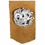Pewter Celtic Seahorse Leather Bookmark 21-2013