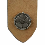 Pewter Tudor Rose Leather Bookmark 21-2014
