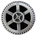 Steampunk Gear Button 21-2085