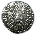 Small Medieval Coin Button 21-2089
