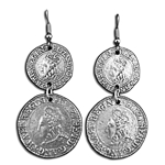 Elizabethan Coin Earrings 21-2119