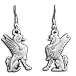 Pewter Griffin Earrings 21-2130
