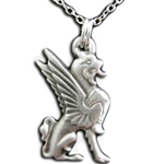 Pewter Griffin Necklace Pendant 126.0908