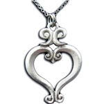Renaissance Heart Necklace Pendant 126.0422