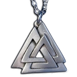 Valknut Pendant Necklace 126.0699
