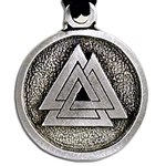 Viking Valknut Pendant Necklace 121-0705