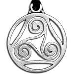Celtic Spiral Pendant Necklace 121.0679