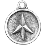 Four Point Caltrap Pewter Pendant