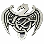 Celtic Dragon Pewter Brooch 21-2306