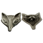 Fox or Vixen Pewter Button 21-2324