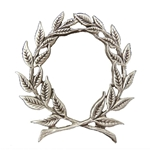 Pewter Laurel Wreath Brooch 21-2326