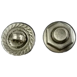Nut and Bolt Pewter Button 21-2335
