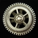 Steampunk Spinning Gear Button 21-2336