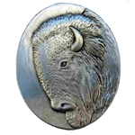 Pewter Bison Brooch 21-2341