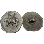 Pegasus Pewter Button 21-2392