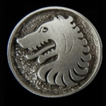 Medieval Wolf Button 21-2398
