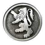 Rampant Lion Pewter Pin 116.0617