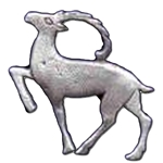 Nordic Deer Pewter Pin 116.0682