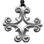 Ornate Greek Cross Pendant 121.0282