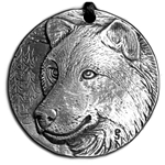 Wolf Pewter Pendant 121.0466