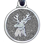 Stag or Deer Head Pewter Pendant 121.0612