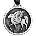 Pegasus Pewter Necklace 121.0612
