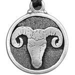 Ram Pewter Pendant Necklace 121.0616